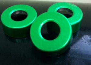 20mm hole punched vial seals green